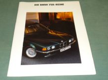 "BMW ""DIE BMW 7ER-REIHE"" German Text brochure 1991"
